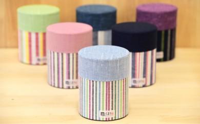 [№5786-1418]遠州綿紬 お茶缶ぷっくり5点セット
