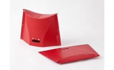 開いて押すだけの折りたたみ椅子(高さ30cm)PATATTO300・2個セット (ブラウン)