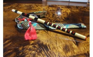 神渕神社例大祭で使用する篠笛(黒色)