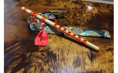 神渕神社例大祭で使用する篠笛(朱色)