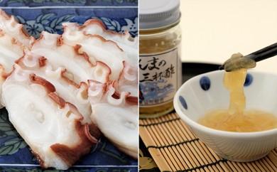 [№5723-0141]しらぬか産柳だこ(600g)と珍味(まんまの三杯酢・まんまの塩辛)の3種セット