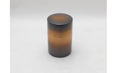 1801154 銅製鎚目茶筒赤銅仕上げ
