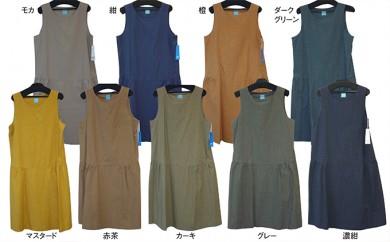 [№5786-1129]武襯衣ノースリーブギャザーワンピース フリーサイズ 9色