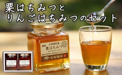 A‐507【特産品コース】はちみつセット(栗、りんご)