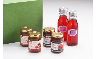 1800844 斎藤いちご園 手作りジャム(いちご、いちじく)・シソジュース 3品セット