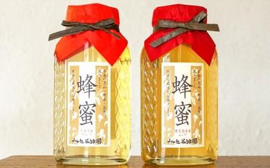 [№5749-0201]アカシア蜂蜜800g、レンゲ蜂蜜800g 化粧箱入り