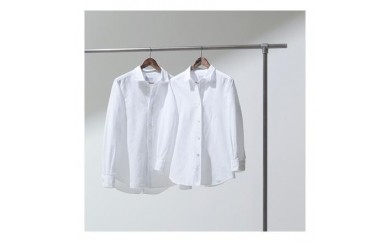 076 oisesan white shirt(オイセサン)伊勢木綿の白シャツ夫婦セット
