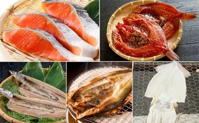 [№4630-0466]紅鮭・干物(柳の舞・さんま・ほっけ・いか)詰合せ