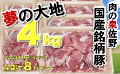B445 国産銘柄豚「夢の大地」4kg