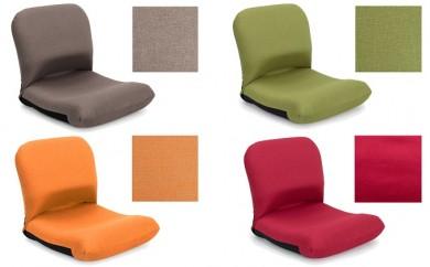 [№5673-0102]背中を支える美姿勢座椅子(色:ブラウン、オレンジ、グリーン、レッド)