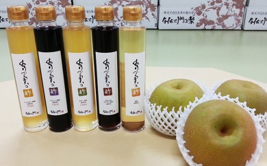 [№5758-0124]飲むありの実(梨)の酢3本セット