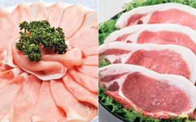 [№5532-0021]★熊本県産 りんどうポーク★しゃぶしゃぶ、とんかつ用 豚ロースセット 肉のさかえ屋