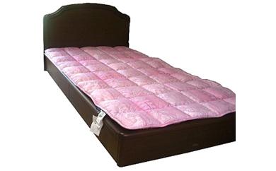 薄い、軽い、羊毛ベッドパット(カラー:ピンク、サイズ:シングル)
