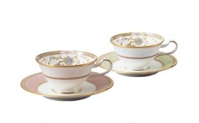 【3-22】ティーコーヒー碗皿ペアセット(ヨシノ)