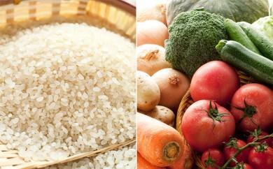 [№5701-0080]津軽のお米5kgと季節の野菜・果物詰合せ(5~7品程度)