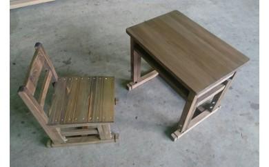 【10-10】木製児童用机椅子セット【限定150セット/年】
