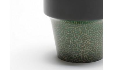 【AP08】aeru 青森県から 津軽塗りの こぼしにくいコップ(緑七々子塗り)