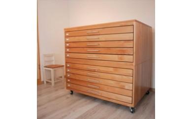 【K007】【手作り家具コロール】木製マップケース