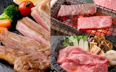 11-49 飛騨牛を味わいつくす!!ステーキ・すき焼き・焼肉セット