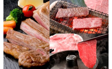 11-58 飛騨牛を味わいつくす!!ステーキ・しゃぶしゃぶ・焼肉セット