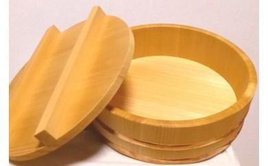 本物志向の方向け!職人手作りのこだわり木曽椹寿司桶(ふた付)