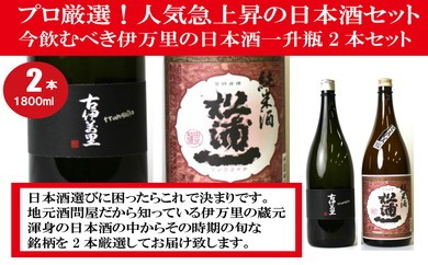 D025プロ厳選!今飲むべき伊万里の日本酒一升瓶2本セット