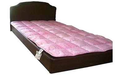薄い、軽い、羊毛ベッドパット(カラー:ピンク、サイズ:ダブル)