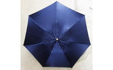 BL02_雪華模様の折り畳み傘(サイズ55cm)カラー:ネイビー