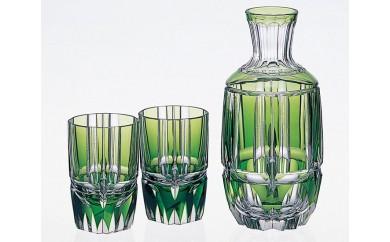 E-1343 カガミクリスタル社製「江戸切子 酒器揃<竹の膳>」