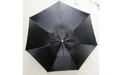 BL15_雪華模様の折り畳み傘(サイズ60cm)カラー:ブラック