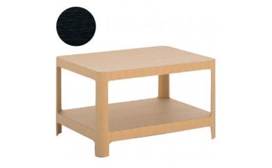 <F>SORAHE ローテーブル(60D45)オーク BL(ブラック)【1023910】