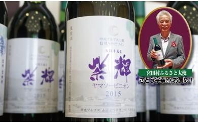 【ふるさと納税】山ぶどうワイン2016「紫輝」34本
