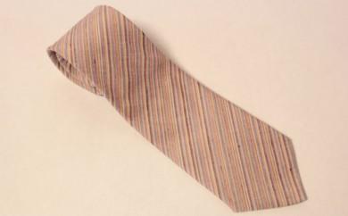 [№5802-0201]結城紬 ネクタイ 縞