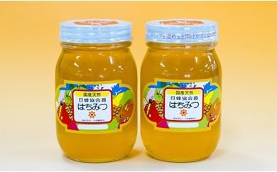 40-11 和田養蜂園 国産天然「れんげはちみつ」、「みかんはちみつ」各600gセット