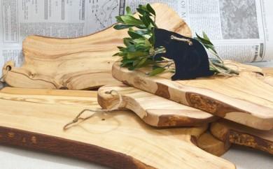 [№4631-1161]オリーブの木で作ったカッティングボード【Leccinoレッチノ】(M)