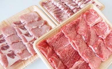 [№5644-0349]飛騨牛・豚肉 焼き肉セット1,5kg