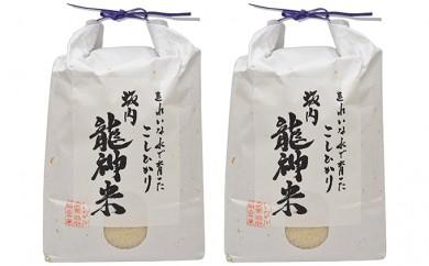 [№5905-0067]JAいび川プレミアム「坂内龍神米」/白米3kg×2袋