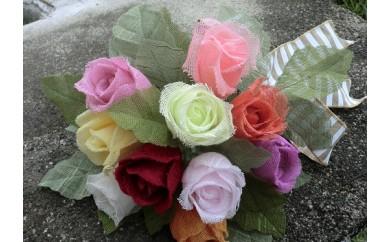 B449 泉佐野タオルで作るバラの花B