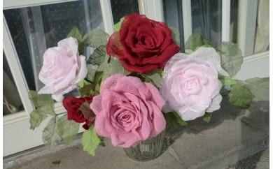 B448 泉佐野タオルで作るバラの花A