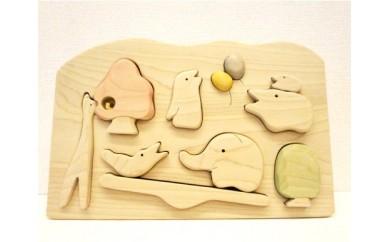 【D-13】仲良しパズル (郡上の木のおもちゃ)