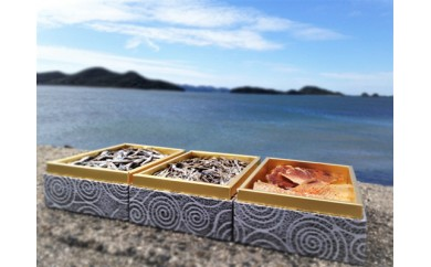H29年産 瀬戸内海産カタクチイワシの田作り&エイヒレ(みりん味)セット