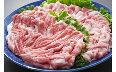 1-064 静岡オンリーワン 金豚王バラ・肩焼肉用セット