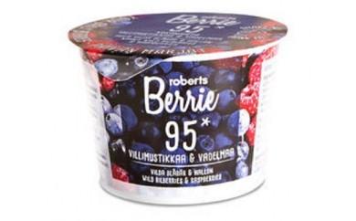 ロバーツベリエ95(野生のビルベリー&ラズベリー)【北欧の野生ベリーを丸ごと使ったフィンランドのベリー飲料】[0021-3101]