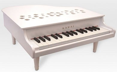 [№5786-1702]KAWAIミニグランドピアノP‐32ホワイト (1162)