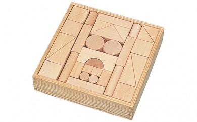 [№5786-1708]良質なブナ材のつみき56ピース(KAWAI玩具4012)