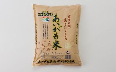 30P3002 秋田県特別栽培あきたこまち「あいがも米」5kg【30P】