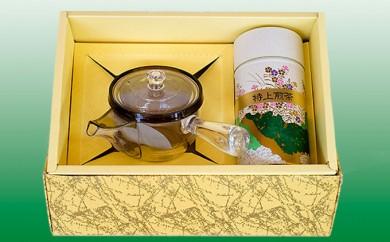 [№5754-0303]菊川深蒸し茶と透明急須セット