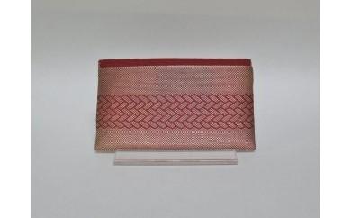 BMN16  「手織佐賀錦」カード入れ  (茜)
