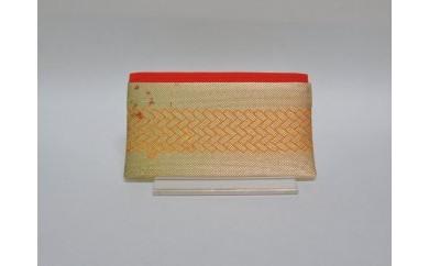 「手織佐賀錦」カード入れ (橙)