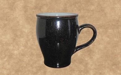 A-313 沈壽官窯 黒薩摩マグカップ(丸形)